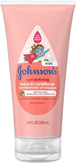 Johnson's Curl Defining Tear-Free Kids' Leave-in Conditioner with Shea Butter, Paraben-, Sulfate- & Dye-Free Formula, Hypo...