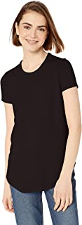 Daily Ritual Amazon Brand Women's Cozy Knit Short-Sleeve Shirt with Shirttail Hem