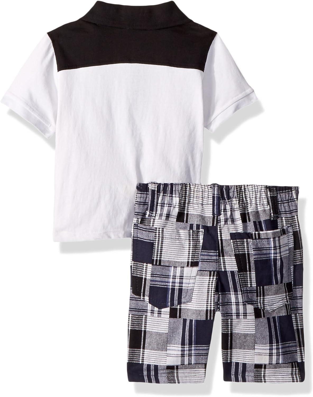 American Hawk Boys 2 Piece Polo Shirt and Printed Short Set