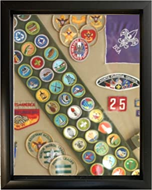Tasse Verre 12x15 Shadow Box Frame with Linen Background and 8 Stick Pins, Deep Display Box for Art, Memorabilia, Medals, Wed
