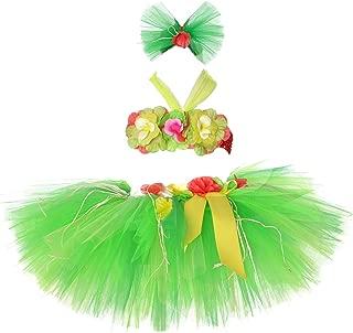 Tutu Dreams 3pcs Hawaiian Hula Luau Tutu Set (2 Sizes: Girls,Baby) Birthday Beach Party