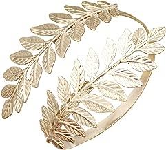 RechicGu Greek Roman Laurel Leaf Bracelet Armband Upper Arm Cuff Armlet Festival Bridal