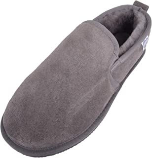 SNUGRUGS Men's Henley Low-Top Sheepskin Slippers