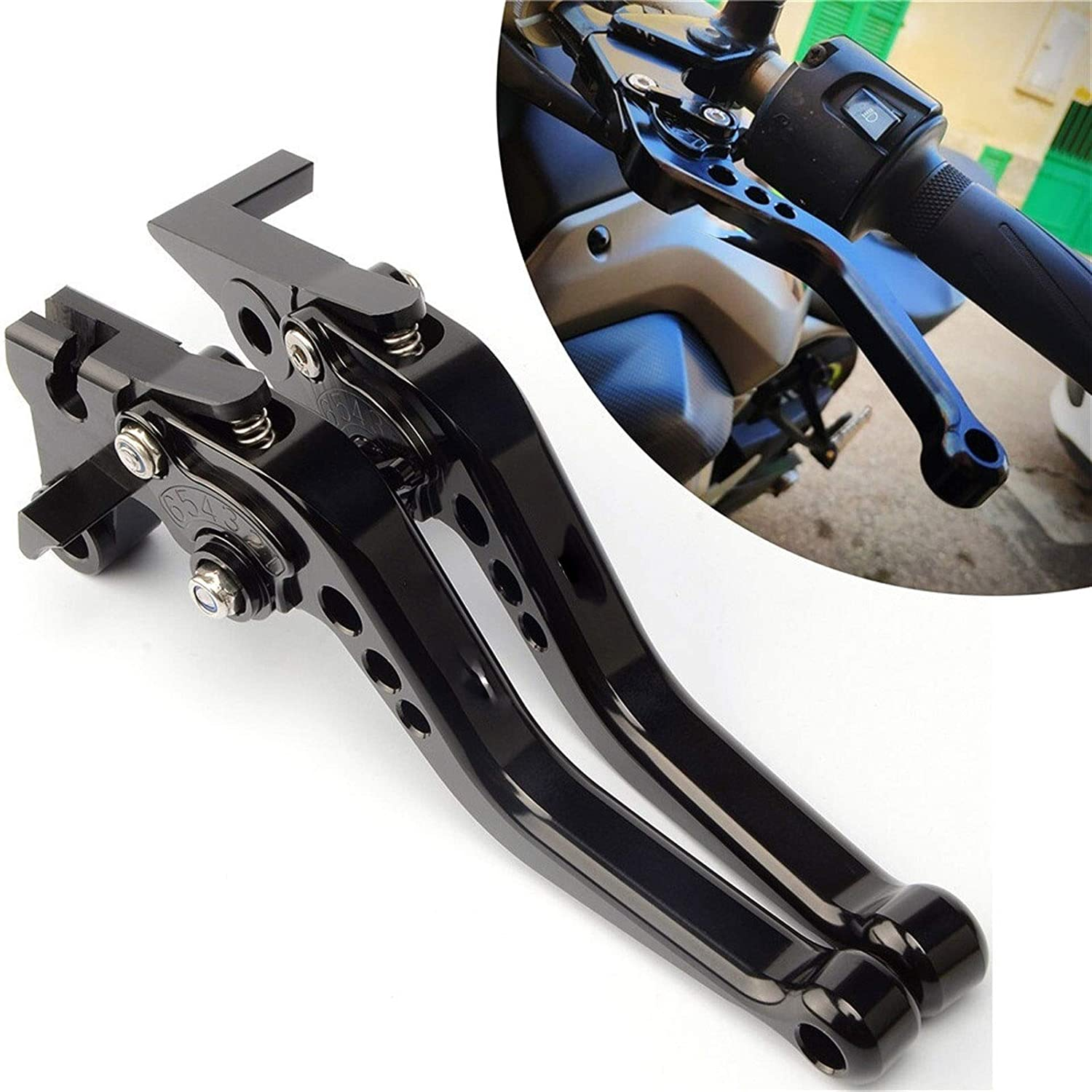 Color : XSR700 Black Motorcycle Ornamental Mouldings Motorcycle Short Levers Fit For Yamaha XSR700 XSR900 XSR Xsr 700 900 Adjustable Brake Clutch Levers
