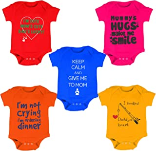 e293f70c41 Kiddeo Baby Boy's and Baby Girl's Cotton Bodysuits Pack ...