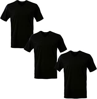 V Neck T Shirts 3 Packs Lightweight Cotton Tee Unisex for Men Women 10 Colors Short Sleeve Cotton