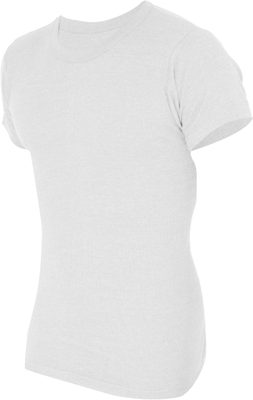 Floso Mens Thermal Underwear Short Sleeve T-Shirt Vest Top (Standard Range)