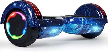 """LIEAGLE Hoverboard, 6.5"""" Self Balancing Scooter Hover Board with Bluetooth Wheels LED Lights for Kids Adults"""