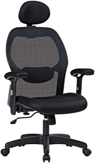 LIANFENG Ergonomic Office Chair, High Back Executive Swivel Computer Desk Chair with Adjustable Armrests and Headrest, Back Lumbar Support, Black