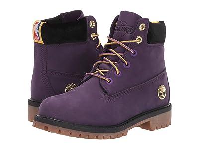 Timberland Kids 6 Premium Waterproof Boot Los Angeles Lakers (Big Kid) (Medium Purple Nubuck) Kids Shoes