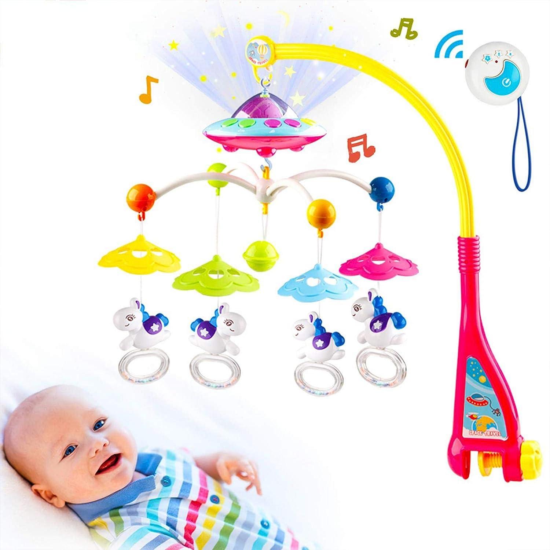 ランキング総合1位 Baby Musical Crib Mobile with Projection Ligh Night Function 新商品!新型 and