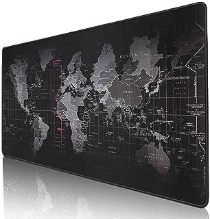 World Map Mousepad Mouse Pad Mat Gaming Laptop Computer Large (30x80cm)