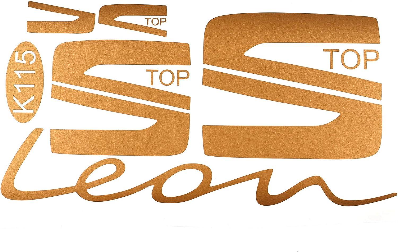 Folie Aufkleber Set f/ür Embleme Logo und Schrift an Lenkrad und Front Heck Kofferraum Selbstklebend Kfz Auto Zubeh/ör Passgenau Dekor K115 K116 Carbon Schwarz
