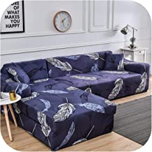 Couch Cover Sectional Sofa Cover for Living Room L Shaped Sofa Elastic Geometric Printed (Need to Buy 2 Pieces Together)-C...