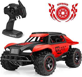 RC Car, Upgraded 1/18 Scale High Speed Remote Control Car with Rechargeable Batteries Kids Fast Racing Monster Vehicle Hobby Truck Electric Hobby Toy with Rechargeable Batteries for Boys Teens Adults