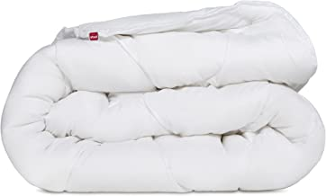 SLEEPMED Couette Blanche 4 Saisons 140x200cm Microfibre Hypoallerg/énique et Lavable Couette Lit Simple ou Double Unisexes avec Boutons Pression Couette Anti Acarien