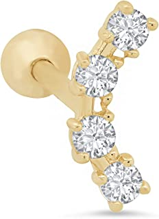 Parade of Jewels 14k yellow-gold round-shape cubic-zirconia