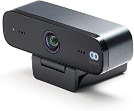 Boom Mini Full HD 1080p Webcam with 4K Glass Lens 90-Degree Field of View Two Built-in mics Compatible with Zoom Teams Web...