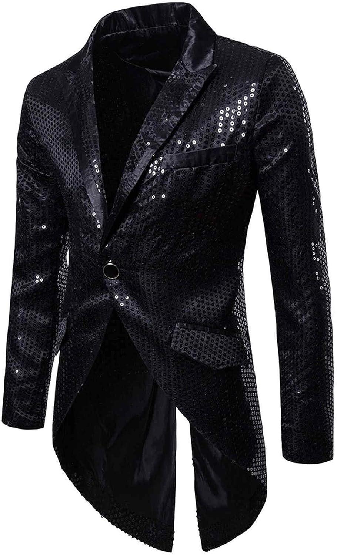 Lalaluka Chaqueta para hombre Frack Steampunk, gótica, falda de camino, lentejuelas, bordada, trajes, uniforme, esmoquin, vestido victoriano, disfraz para hombre