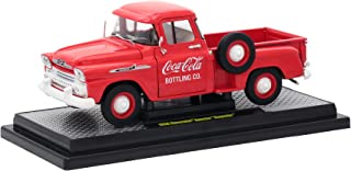 1958 Chevrolet Apache Stepside Pickup Truck Coca-Cola Red Limited Edition to 9,600 Pieces Worldwide 1/24 Diecast Model Car by M2 Machines 50300-RW01