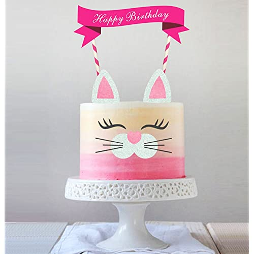 Handmade Kitty Cake Topper DecorationFood Picks Baby Shower Decor And Birthday Party