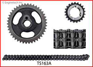 ENGINETECH TS163A DOUBLE ROLLER TIMING SET compatible with 1984-1993 FORD 5.0L 302 V8 / 1985-1997 FORD 351 5.8L WINDSOR