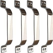Vijaya Sales Stainless Steel Doors and Window Handle - Diagonally Shaded - 6 Inch - Pack of 4