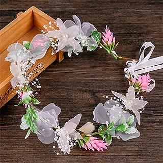 MATCHANT Garland Bridal Flower Headdress Gypsophila Hair Accessories Wedding Bridal Accessories (Color : Colorful)