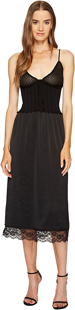 McQ - Knit Lace Slip Dress