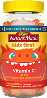 Nature Made Kids First Vitamin C Gummies, 110 Count to Help Support The Immune System† (Packaging May Vary)