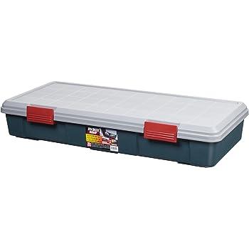 アイリスオーヤマ 収納 BOX 900×400×155 RVBOX 900F グレー/ダークグリーン