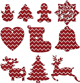 Christmas Tree Candy Cane Christmas Ornaments Christmas Tree Decorations Include Snowman Christmas Tree Reindeer and Angel– Set Of 10 Pieces