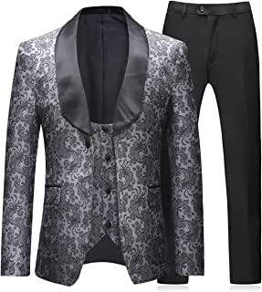 Boyland Traje de Boda para Hombre de 3 Piezas Tuxedos clásico (Chaquetas +  Chaleco + a9ce2e90c16
