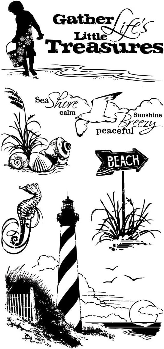 Beach Cabana Rubber Stamp Vernissage Inkadinkado Seaside Scene Travel Summer Vacation Theme A1
