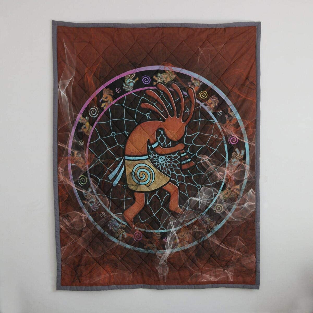 Manufacturer OFFicial shop Personalized Kokopeli Native Popular overseas American Feel Birthda Funning Quilt