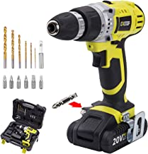 CACOOP CCD20001LBB 20V MAX 1.5 Ah Lithium-Ion Cordless Drill/Driver Set, With 1 20V..