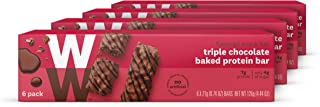 WW Triple Chocolate Baked Protein Bar - High Protein Snack Bar, 3 SmartPoints - 4 Boxes (24 Count Total) - Weight Watchers Reimagined