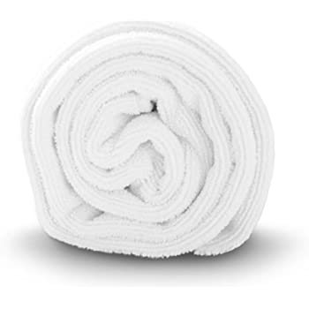 Luxe Beauty Essentials Microfiber Hair Towel for Drying Curly, Long & Thick Hair (20 x 40, White)