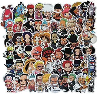 Supersenter Anime Themed One Piece 60 Piece Sticker Decal Set for Kids Adults - Laptop Motorcycle Skateboard Patch Decals