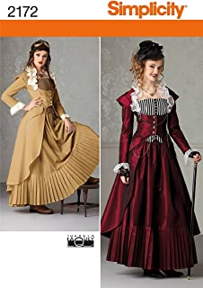 Simplicity Pattern 2172 Misses' Steampunk Costume by Theresa Laquey, Size R5 (14-22)