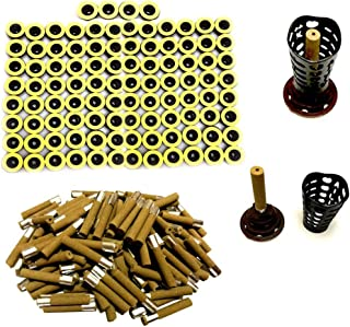 100PCS Moxibustion Sticks, 45:1 Stick on Pure Moxa with Updated Candle Base, Five Years Mugwort Mini Moxa Stick for Chinese Traditional AiJiu Acupoint Body Acupuncture (7mm Diameter 40mm Legnth)