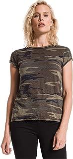 Women's Camo Cotton Slub Crew T-Shirt