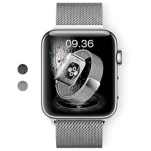 DesertWest Bracelet Apple Watch 42mm, Milanais Bracelet 42mm Strap Band Compatible avec Apple Watch Series 4/3 / 2/1 - Argent