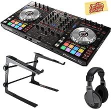Pioneer DDJ-SX3 DJ Controller for Serato DJ Pro Bundle with Stand, Headphones, and Austin Bazaar Polishing Cloth