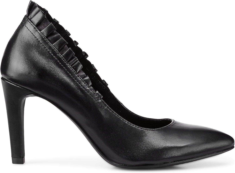 Tamaris Damen Abend-Pumps schwarz Leder 38