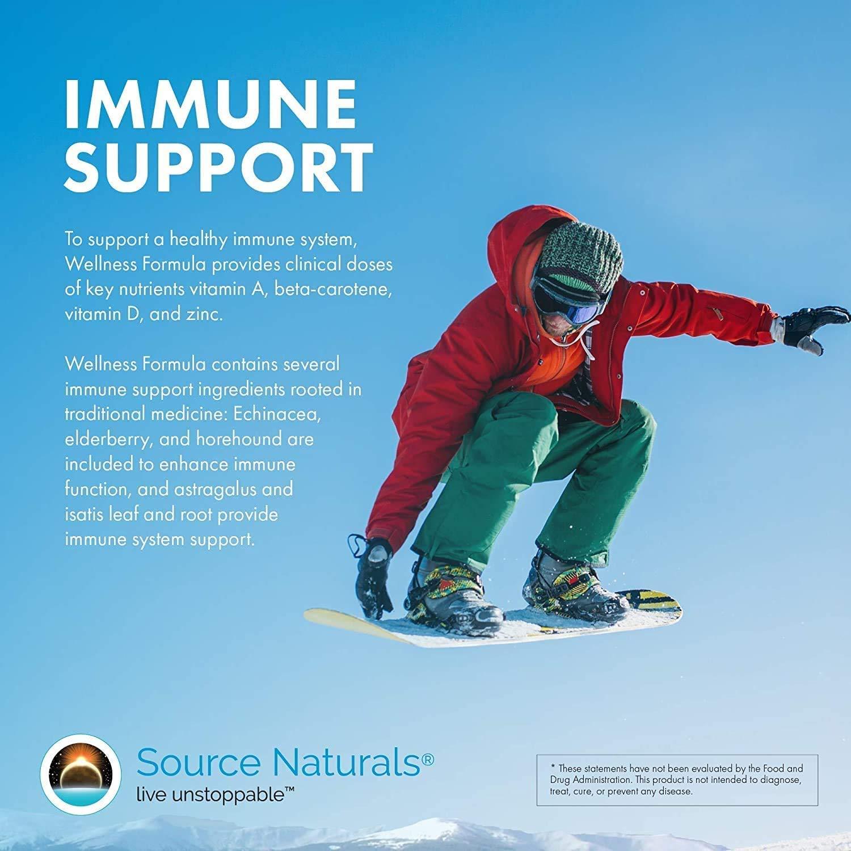 Source Naturals Wellness Formula Bio-Aligned Vitamins & Herbal Defense - Immune System Support Supplement & Immunity Booster - 120 Capsules
