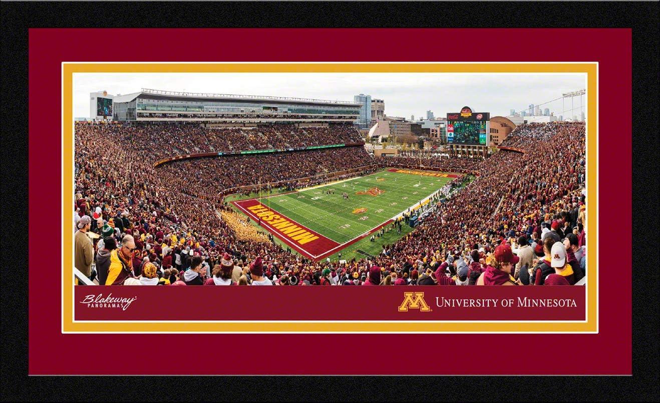 Blakeway Worldwide Panoramas Minnesota Gophers Football Framed Panoramic Picture Inc