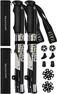 NIANYISO Hiking Poles Collapsible Lightweight for Height 5'3