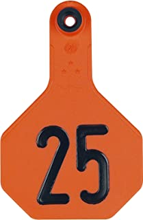 Ytex 3 Star Medium Cattle ID Ear Tags Orange Numbered 151-175