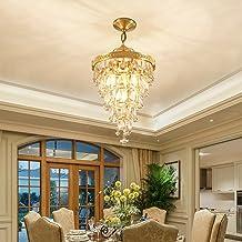 Crystal Lamp Chandelier Creative Aisle Lamp Home Restaurant Lamp European Lamp E14x4, Diameter 35CM, Height 45cm